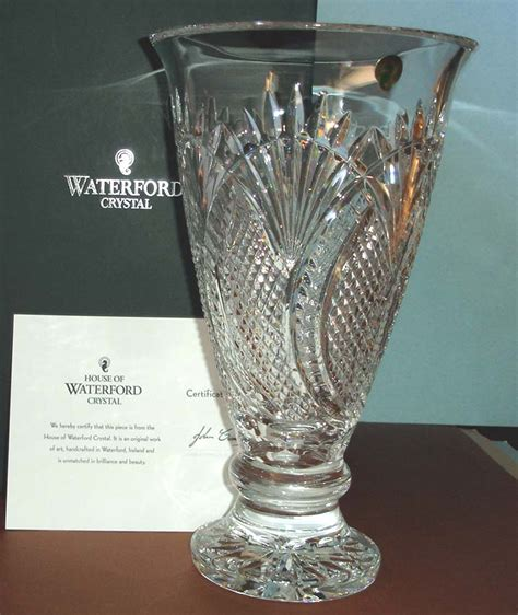 Waterford Seahorse Vase by Waterford Seahorse Large Footed Vase Made In