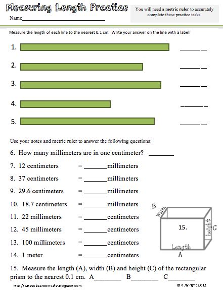kate s science classroom cafe metric ruler freebie