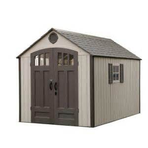 lifetime 8 ft x 12 5 ft storage shed with vertical