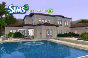 Stunning House Designs Sims Ideas by The Sims 3 House Designs Mediterranean Mansion