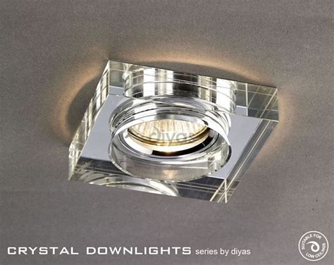 Diyas IL30822CH Crystal Downlight Deep Square Rim Only Clear