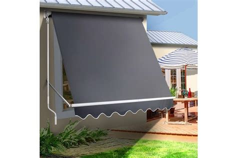 instahut fixed pivot arm awning window patio blinds retractable side blackout blockout