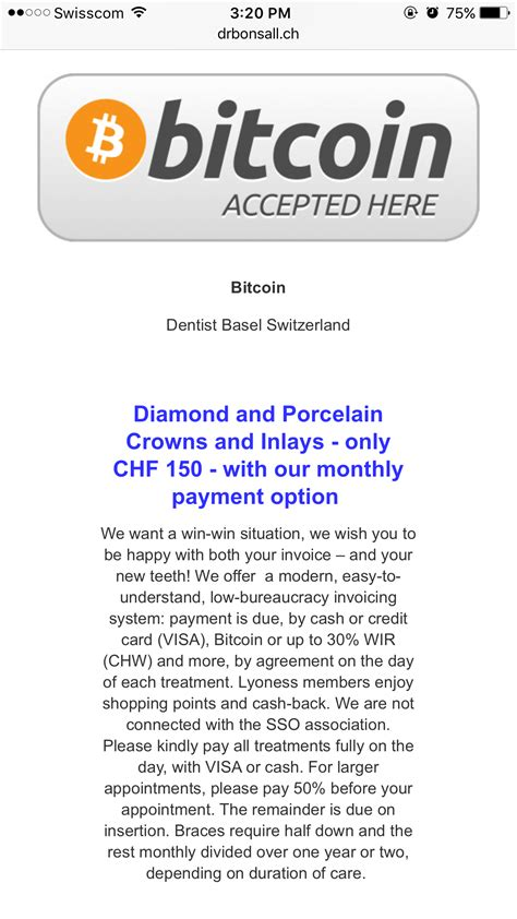 Bitcoin was originally released in 2009 by satoshi nakamoto as a piece of software and a paper describing how it works. Bitcoin dentist in Basel, Switzerland : Bitcoin