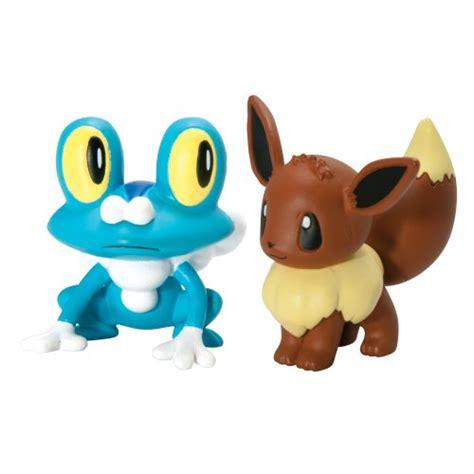 pok 233 mon 2 pack small figures froakie vs eevee 053941180652