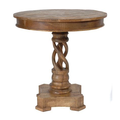 30 tall end table bengal manor mango wood twist accent table 30 inches tall