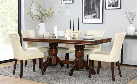 chatsworth wood extending dining table with 4 bewley
