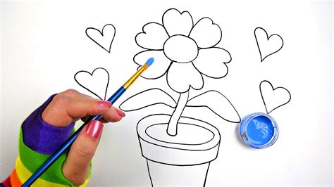 step by step drawing flowers for how to draw color