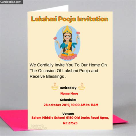invitation card design  diwali