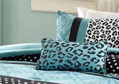 girls bedding set kids teen comforter turquoise black