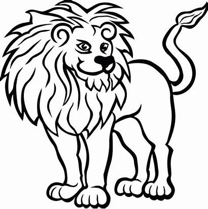 Lion Clipart Clip Drawing Coloring Vector Head