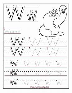 printable letter w tracing worksheets for preschool With learning write letters preschool