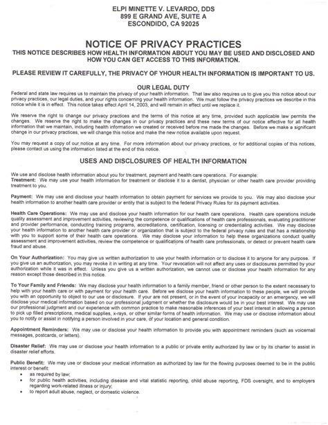 Notice Of Privacy Practices Template by Pin Privacy Practices Template Image Search Results On