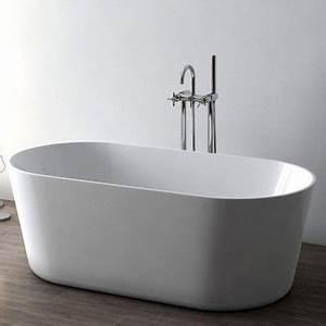 baignoire ilot ovale 158x74 cm petite dimension With petite salle de bain baignoire