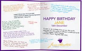 happy birthday austen the austen literacy