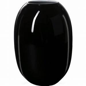 Vase Schwarz Glas : piet hein vase super opal glas 50 cm schwarz exquisit24 ~ Indierocktalk.com Haus und Dekorationen