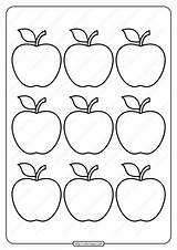 Apple Coloring Outline Printable Simple Email Pages Printables Whatsapp Tweet sketch template