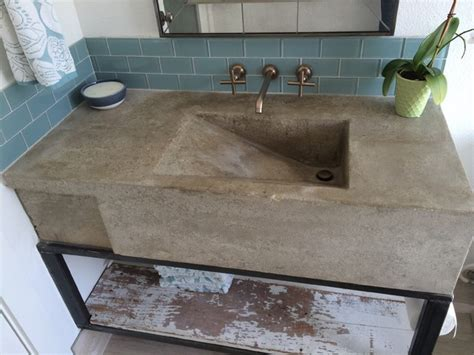 how to make a cement sink custom concrete sink modern austin by build austin