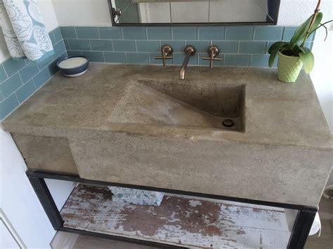 concrete bathroom sink diy custom concrete sink modern austin by build austin