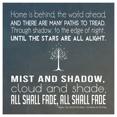 Quote of the Lord of the Rings Return King
