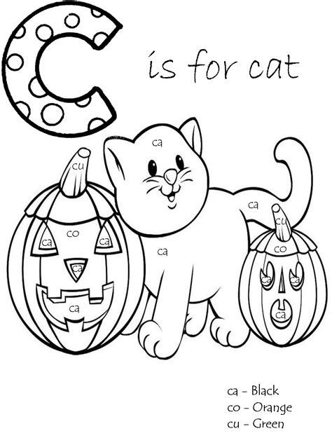 letter  vowel blends  images halloween coloring