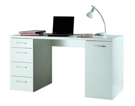 basika bureau bureau 1 porte et 4 tiroirs consuelo blanc