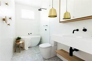pour une salle de bains scandinave monochrome With salle de bain style scandinave
