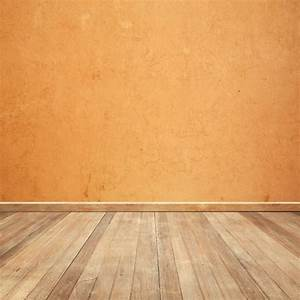 wooden floor with an orange wall background photo free With parquet usé