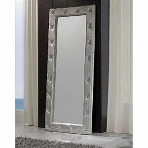 Dressing Avec Miroir : moderne miroir dressing cuir argent achat vente ~ Teatrodelosmanantiales.com Idées de Décoration