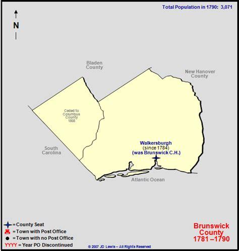 Brunswick County, NC - 1781 to 1790