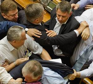 Ukraine parliament brawl as nationalists and separatists ...