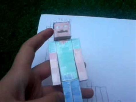 personaggi minecraft  fatti  carta youtube
