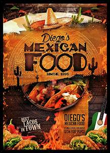 Cool Restaurant Menu Designs Mexican Food Menu By Monkeybox Graphicriver