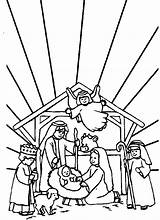 Jesus Coloring Born Pages Bible Sheet Colouring Sheets Printable Christian Story sketch template