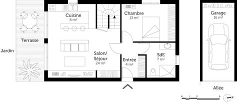 Plan Maison Etage 3 Chambres by Plan De Maison 1 Etage 3 Chambres