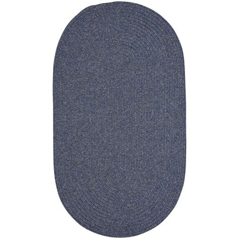 Blue Oval Rug by Capel Candor Blue 8 Ft X 11 Ft Oval Area Rug