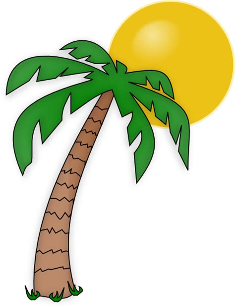Clipart Palm Tree Palm Tree Clip Clip At Clker Vector Clip