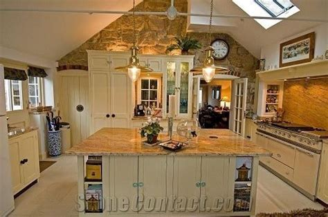 colonial gold kitchen worktops colonial gold yellow