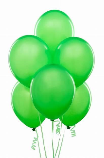 Balloons Balloon Clipart Birthday Lime Happy Neon