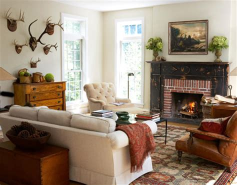 Country Living Room Ideas With Fireplace by Adirondack Style Rustic Decorating