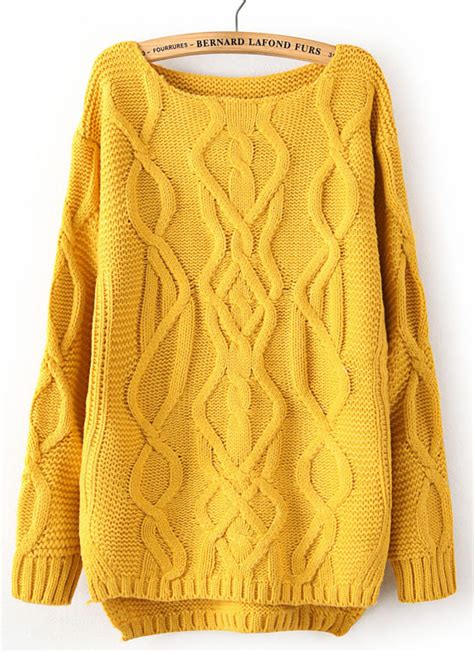 yellow cable knit sweater yellow sweatshirt shop for yellow sweatshirt on wheretoget