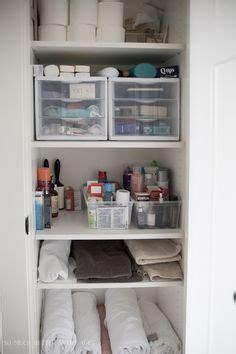Bathroom Linen Closet Organization Ideas by Organized Linen Closet Linens Storage And Spaces