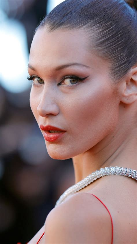wallpaper bella hadid cannes film festival  red