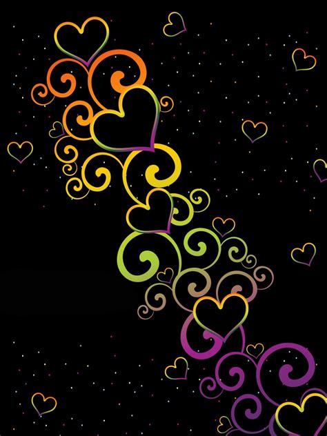 Colorful Hearts Wallpaper Wallpapersafari