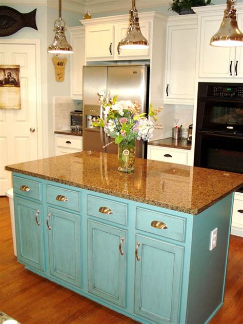 extend kitchen island painted island teal extend counter for barstools glaze 3634