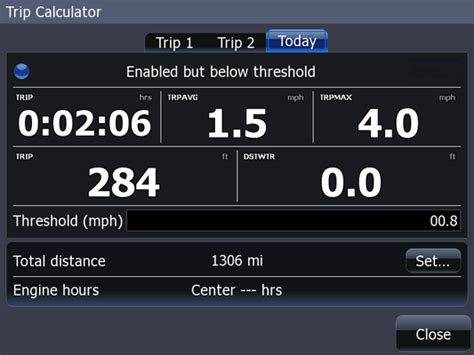 Boat Trip Distance Calculator by Continuouswave Whaler Reference Lowrance Hds Menu Map