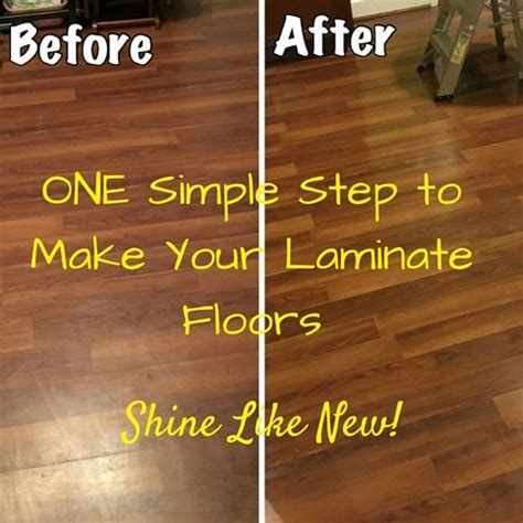 laminate floors   shine  easy diy step
