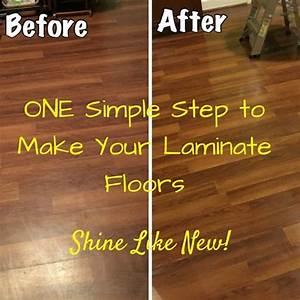 Laminate floors make them shine again easy laminate for How to polish wood laminate floors