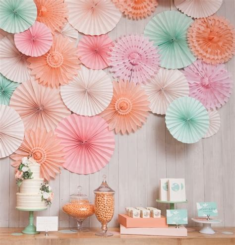 pcslot   cm tissue paper fan decoration