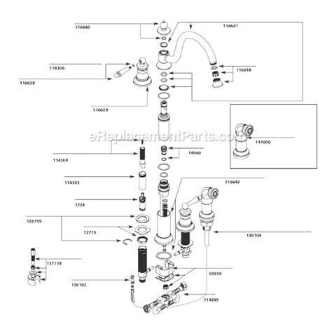 Moen S712 Parts List and Diagram : eReplacementParts.com