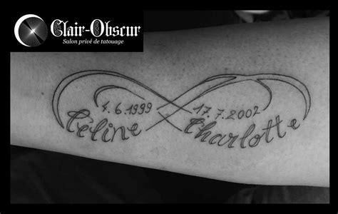 tatouage infinity avec prenom
